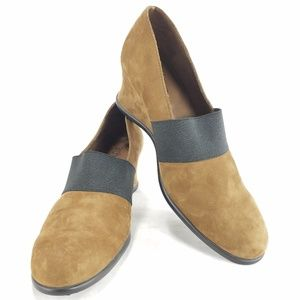 Arche Suede Wedge Womens Heels Slip On Shoes